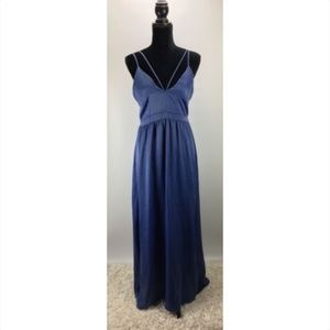 The Vanity Room Size Medium M Split-Neck Maxi